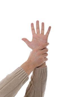 Free Hand Holdinh Hand Stock Image - 9452401