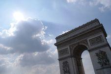 Free Arc De Triomphe Stock Image - 9453031