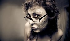 Free Funny Girl With Facial Mask. Stock Photography - 9454022