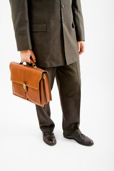 Business Man Suite And Bag Royalty Free Stock Photo
