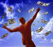 Free Catching Money On The Sky Stock Photos - 9455163