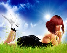 Free Beauty In The Meadow Royalty Free Stock Image - 9455336