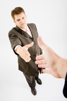 Free Business Man Handshake Royalty Free Stock Photography - 9455467