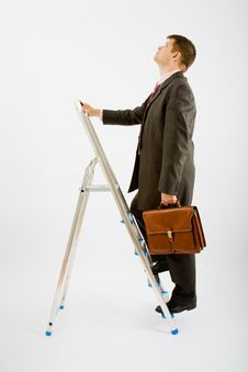 Free Business Man With Ladder Stock Photos - 9455583