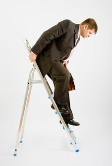 Free Business Man With Ladder Stock Photos - 9455683