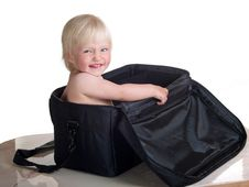 Free Cute Child Into Bag Stock Photography - 9456352