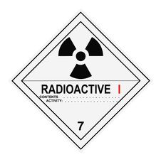 Free Radioactive Warning Label Royalty Free Stock Images - 9456649