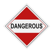 Free Dangerous Warning Label Stock Image - 9456671