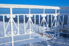 Free Stairway In Hoarfrost Stock Photos - 9456793