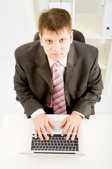 Free Laptop Computer And Hand Stock Image - 9456881