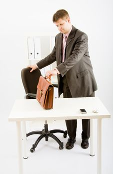Free A Young Business Man Royalty Free Stock Photos - 9456908