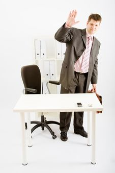 Free A Young Business Man In Office Stock Image - 9456941