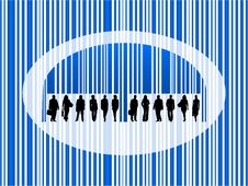 Free Barcode And People Royalty Free Stock Image - 9457406