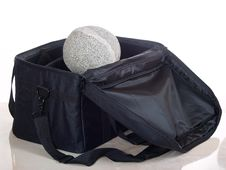Round Stone On Black Bag