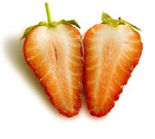 Free Two Half Strawberry Royalty Free Stock Photo - 9458075