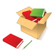 Free Books In Carton Box Stock Photography - 9459282