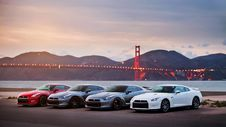 Free Cars At Golden Gate Stock Images - 94536474