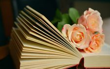 Free Open Book With Roses Stock Photos - 94536483