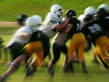 Free Men In White And Black Playing Football Stock Photo - 94536490