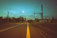 Free Railway Tracks  Royalty Free Stock Images - 94536499