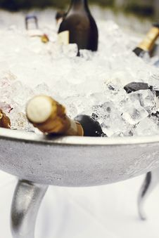 Free Champagne In Ice  Royalty Free Stock Images - 94536539