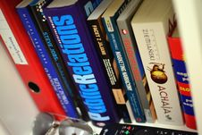 Free Books In Bookshelf Royalty Free Stock Image - 94536556