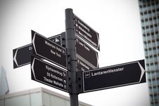 Free Street Sign In Rotterdam Stock Photography - 94581112