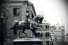 Free Statue Of King William II Stock Image - 94581121