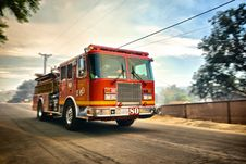 Free Speeding Fire Truck Royalty Free Stock Photography - 94581347