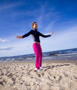 Free Active Woman On The Beach Royalty Free Stock Photo - 9467005
