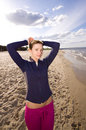 Free Active Woman On The Beach Royalty Free Stock Photography - 9467017