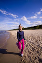 Free Active Woman On The Beach Stock Photo - 9467030