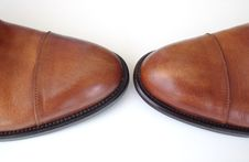 Free Pair Of Brown Shoes Stock Images - 9460114