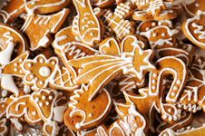 Free Gingerbread Cookies Royalty Free Stock Photography - 9460367