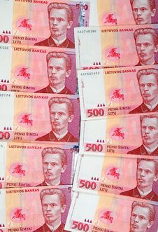 Lithuanian Banknote Stock Photography