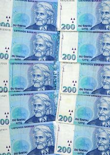 Free Lithuanian Banknote Stock Photography - 9460562