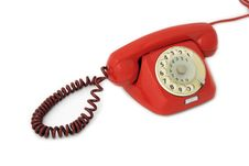 Free Old Telephone Red Stock Photography - 9461082