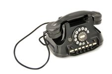 Free Old Telephone Black Stock Photo - 9461120