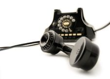 Free Old Telephone Black Stock Photo - 9461130