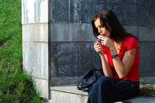 Free Smoking Woman Stock Image - 9461471