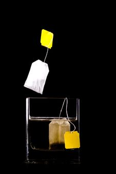 Tea Bag Splash Stock Images