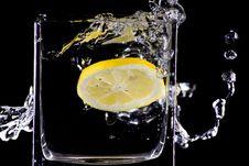Free Citron Splash Royalty Free Stock Photo - 9461635