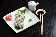 Free Assortment Of Japanese Sushi Stock Image - 9461861