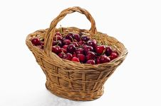 Free Basket With Cherries Stock Images - 9462734