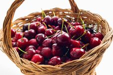 Free Basket With Cherries Stock Image - 9462781