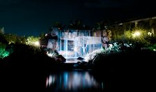 Free Waterfall At Night2 Stock Images - 9463734