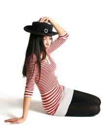 Free Girl Is In A Hat Stock Photo - 9464660
