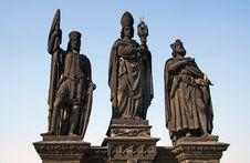 Free Three Statues On The Charles Bridge Royalty Free Stock Photos - 9464808