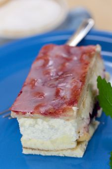 Free Food Series: Fancy Cake With Red Fruit Jelly Stock Image - 9465881