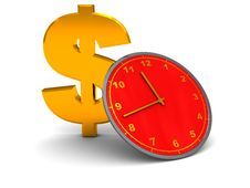 Free Dollar And Clock Stock Images - 9465964